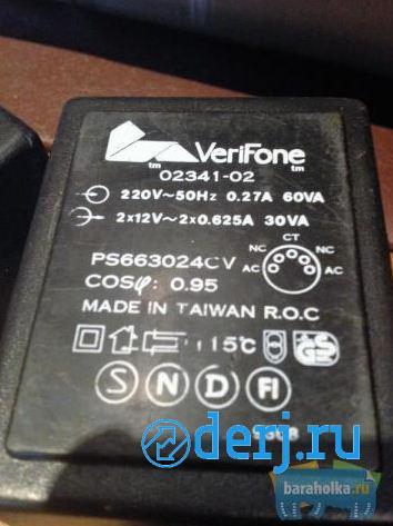 Адаптер-блок питания VeriFone 2х12v, МОСКВА