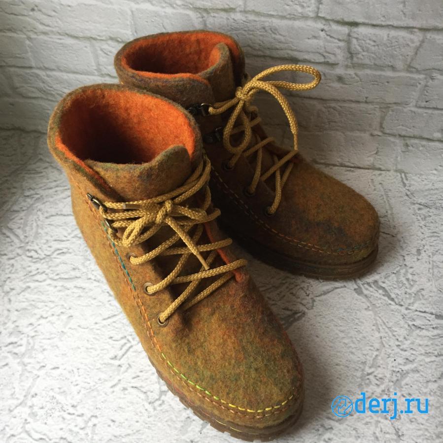Ботинки валяные на подошве. НОВЫЕ,  Екатеринбург