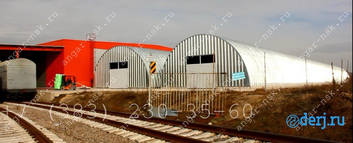 Продам бескаркасный арочный быстровозводимый разборный ангар,  Новосибирск