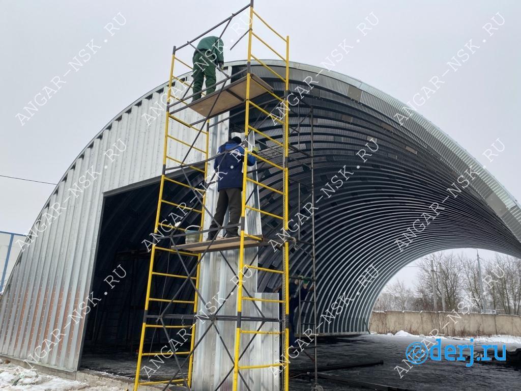 Арочные быстровозводимые разборные ангары под склад,  Биробиджан