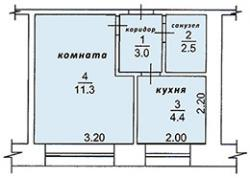 Продаю 1-комнатная квартиру, 22 кв м